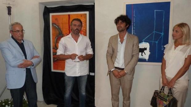 The speakers/Sono intervenuti: From left/Da sinistra: Prof Ciceroni, Eugenio Morganti, Matteo Principi, Giorgia Fabbri. Grazie al Comune di Corinaldo.