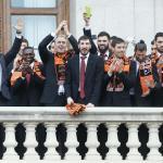 Cinco mil 'taronjas' celebran el título de Valencia Basket