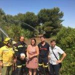 Instalan 18 cañones de agua para combatir el fuego en la Devesa de El Saler