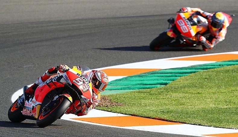 Márquez y Lorenzo ayer en el Circuit/img. informaValencia.com