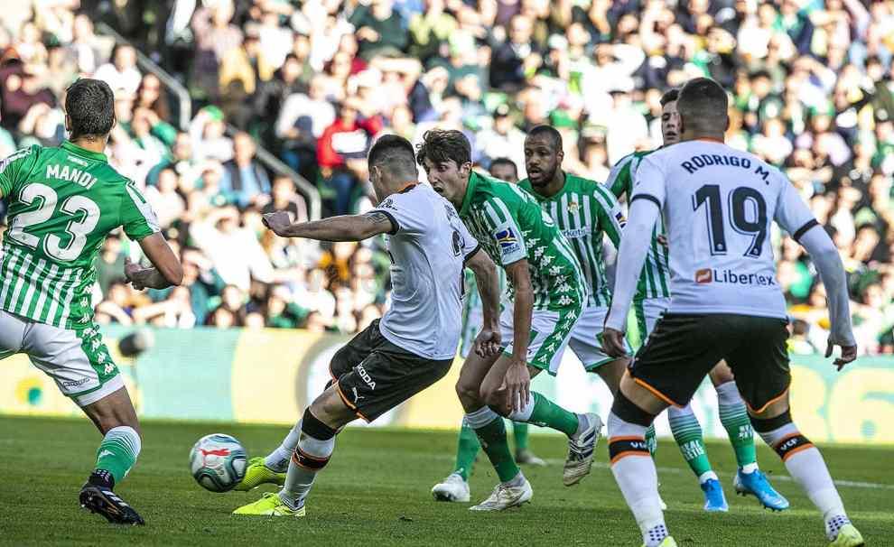Maxi marca en el minuto 31 el 0-1 que no sirvió para ganar en el Villamarín/Img VCF
