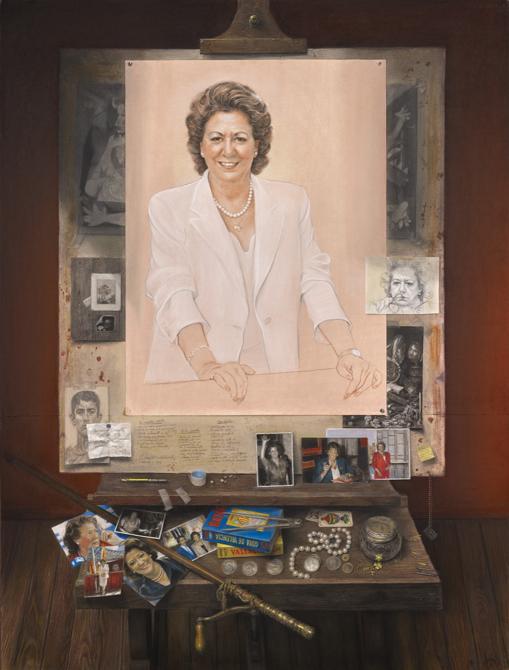 Retrato completo de Rita Barberá en el Ayuntamiento de Valencia/Ayt.