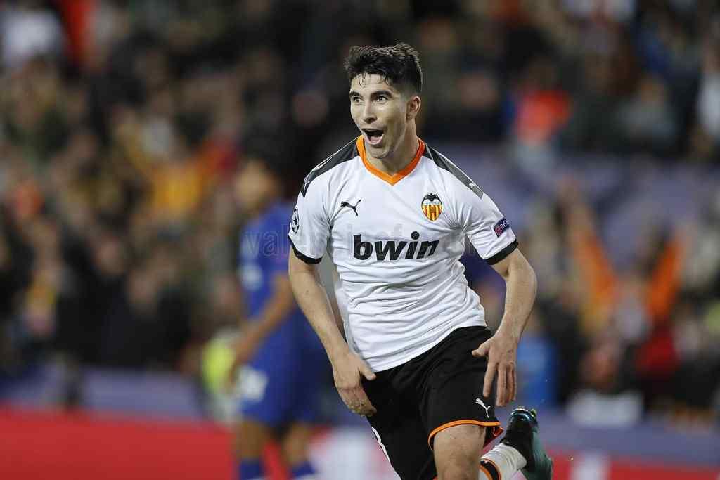 Carlos Soler adelantó al Valencia en el minuto 40/Img. VCF