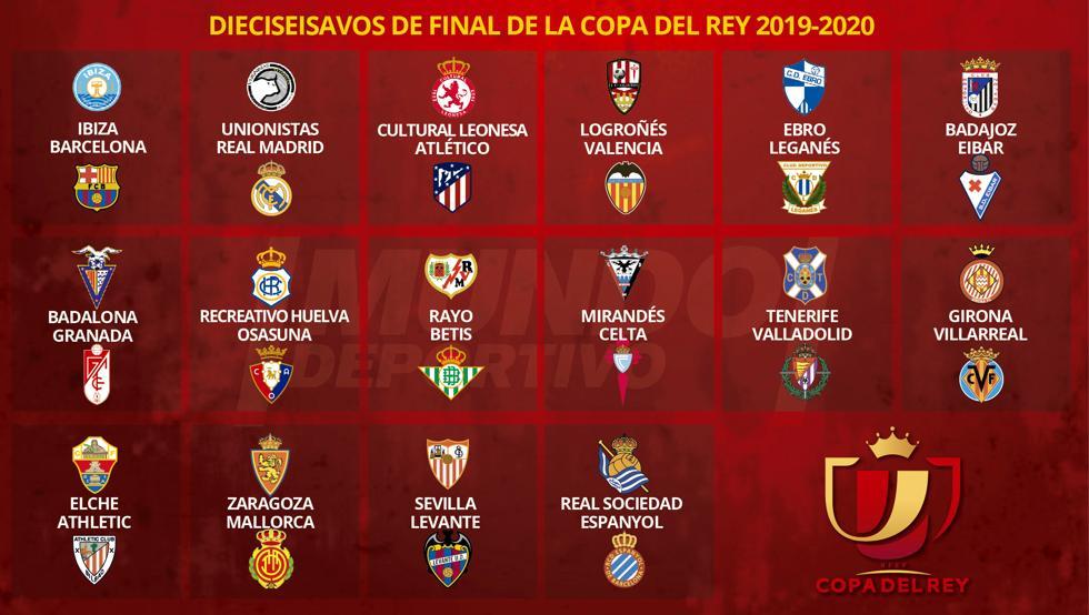 Sorteo 1/16 Copa del Rey 2020/MD