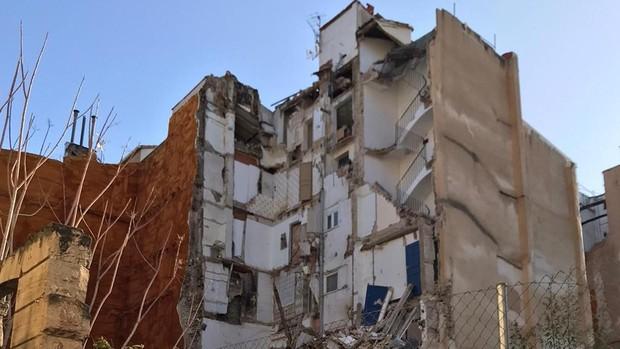 Edificio derrumbado en Alcoy/Img. rtve