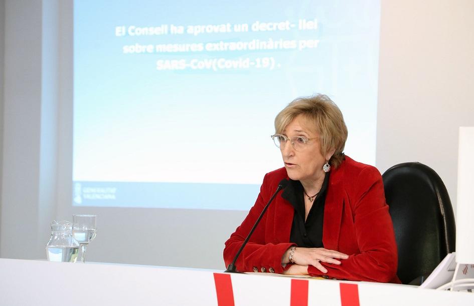 La consellera de sanidad, Ana Barceló no ha comparecido este domingo en la habitual rueda de prensa./informaValencia.com