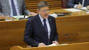 El presidente Ximo Puig en Les Corts/Img. GVA