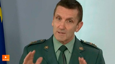 General Santiago, Jefe del Estado Mayor de la Guardia Civil/JC