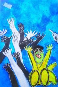 'Pandemia'. Pintura de Juan Ripollés/Img. emece3