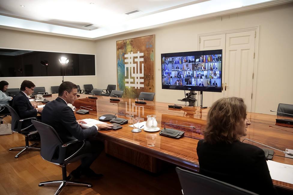 Sánchez durante la conferencia de presidentes autonómicos/twitter
