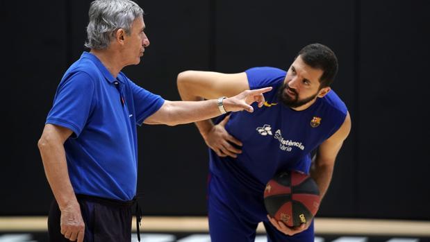Mirotic, entrenador del FCB/informaValencia.com