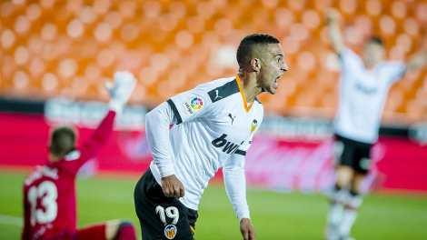 Rodrigo, autor del gol del Valencia /VCF