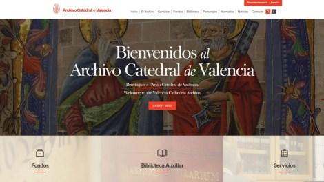 Nueva Web de los Archivos de la catedral de Valencia/informaValencia.com