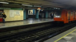 Estación de Santa Anita, Línea 8, Metro de la Ciudad de México. Andenes/hoyesarte.com