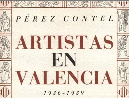 Detalle de la portada del libro Artistas de Valencia 1936-1939. Año 1986/A.Macharowski