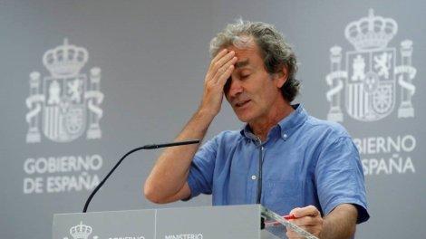 Fernando Simón durante la rueda de prensa de este lunes -twitter