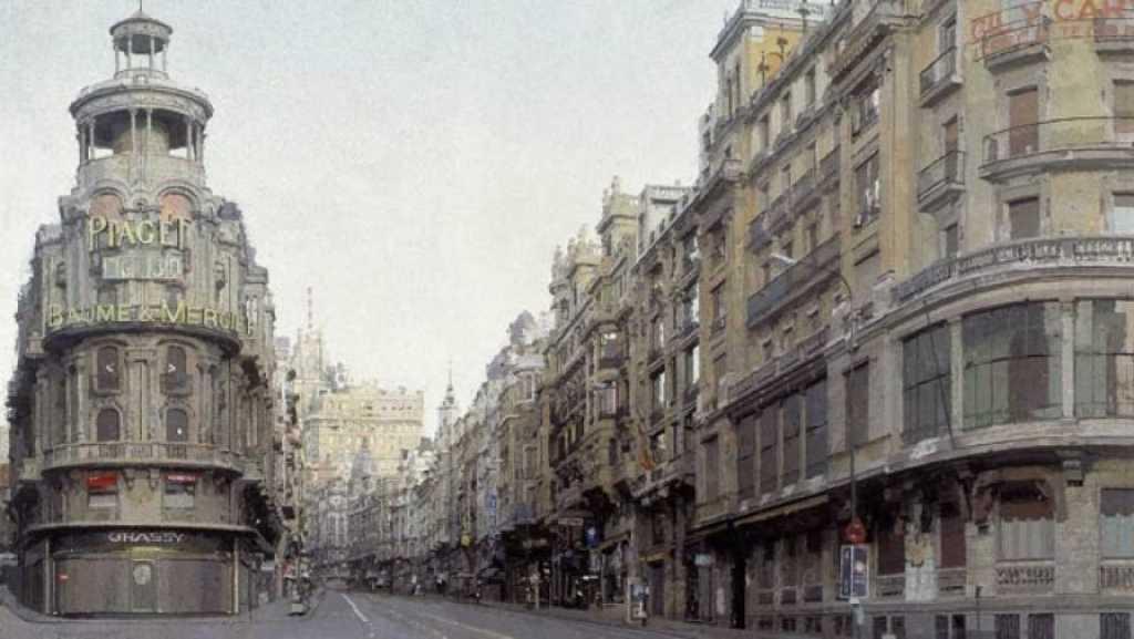 Antonio López, uno de los máximos representantes del realismo español, pintó la Gran Vía entre 1974 y 1981. - Rtve