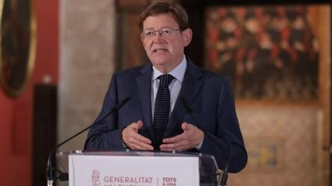 Puig, durante su declaración institucional. Img GVA