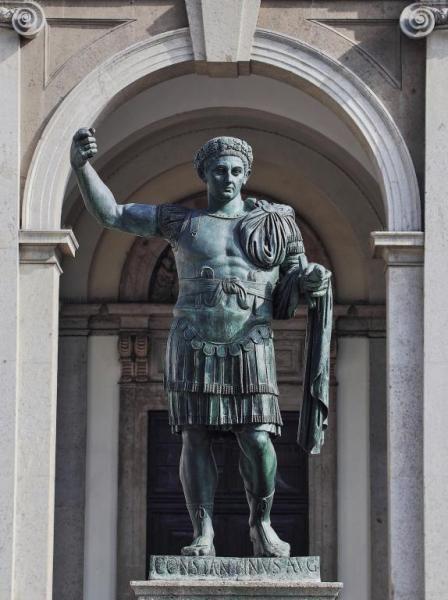 Bronce de Constantino, basílica San Lorenzo Maggiore, Milán.
