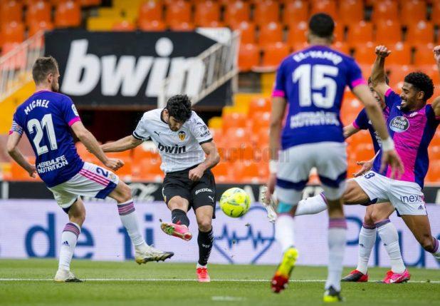 Guedes volvió a cuajar un buen partido ante el Real Valladolid/VCF