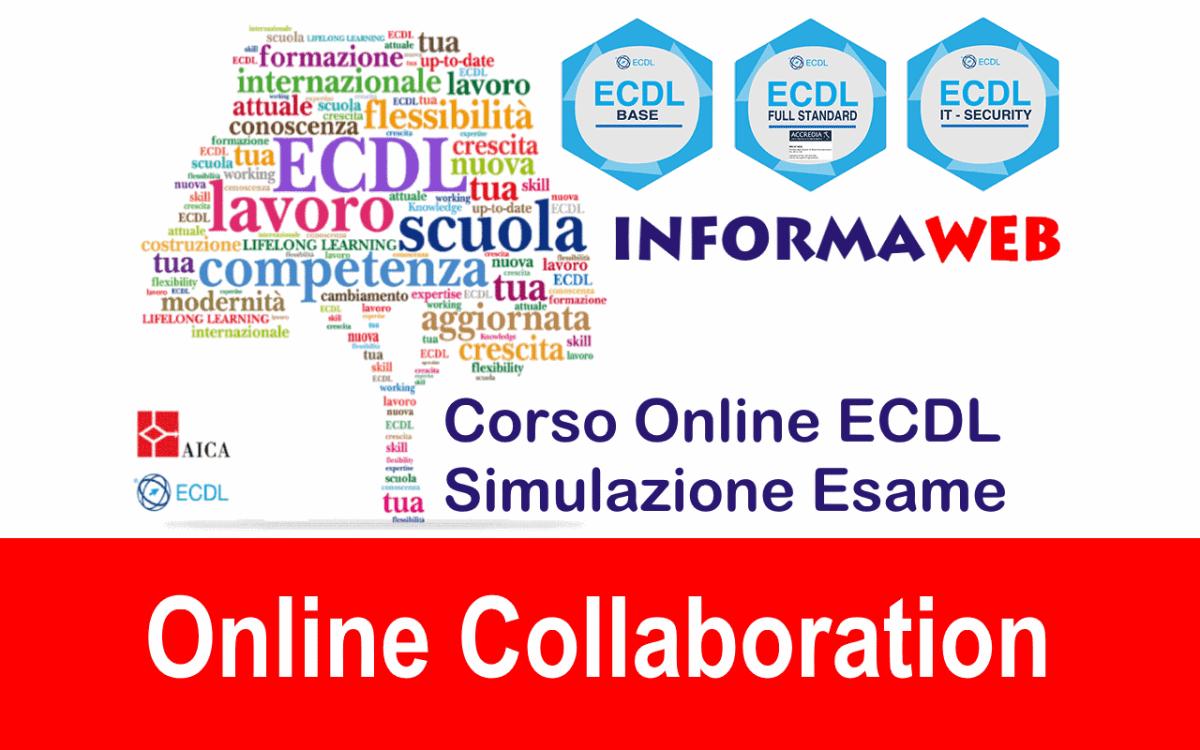 Simulazioni ECDL Modulo 7 Online Collaboration Simulatore Esami AICA IE+Google Suite Test Quiz Online Gratis