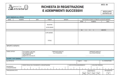 Registrazione Contratto Preliminare Verbale Allagenzia