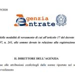 Modello F24 per la registrazione degli atti privati da marzo 2020