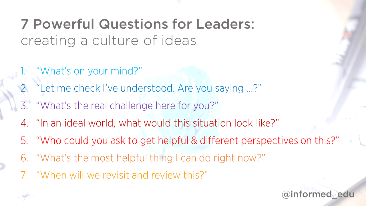leadership archives david weston 7 powerful questions for leaders creating a culture of ideas