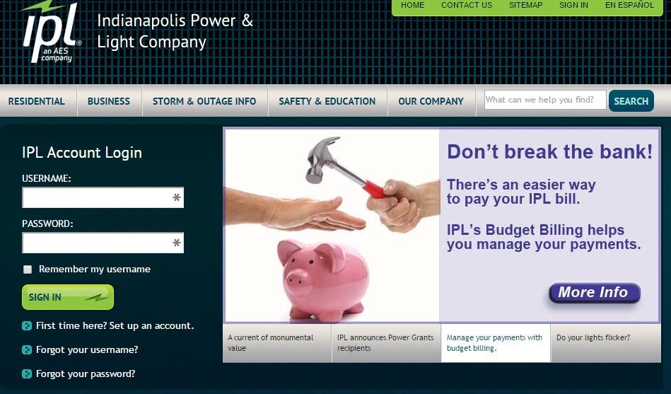 Indianapolis Power And Light Company Bill Pay 5 Ways To Idea