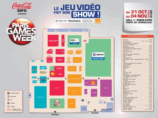 Plan du Salon - Paris Games Week 2012