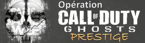 Bannière Opération Call Of Duty : Ghosts Prestige à la PGW2013
