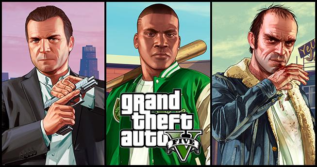 Bannière Grand Theft Auto V