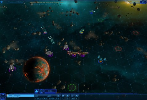 Sid Meier's Starships : Screenshot Combat Harmony VS Purity Fleet