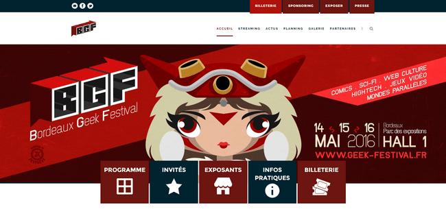 Bordeaux Geek Festival 2016 : Capture site lancement