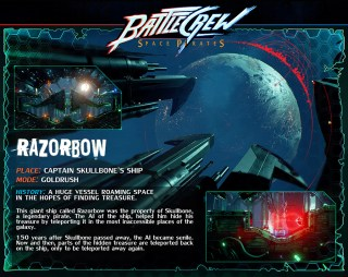 BATTLECREW Space Pirates : Razorbow Map