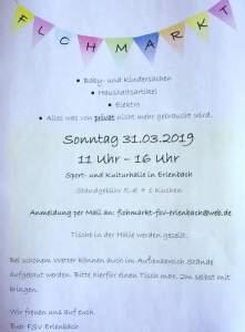Flohmarkt @ Sport- und Kulturhalle Erlenbach