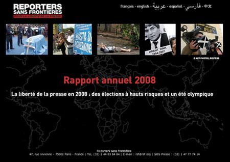 Le rapport annuel de Reporters sans frontières sur la Thaïlande