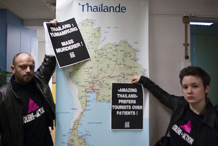 L'office de tourisme thaïlandais occupé par des militants d'Act Up-Paris