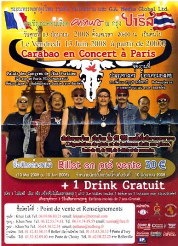 Concert de Carabao en France