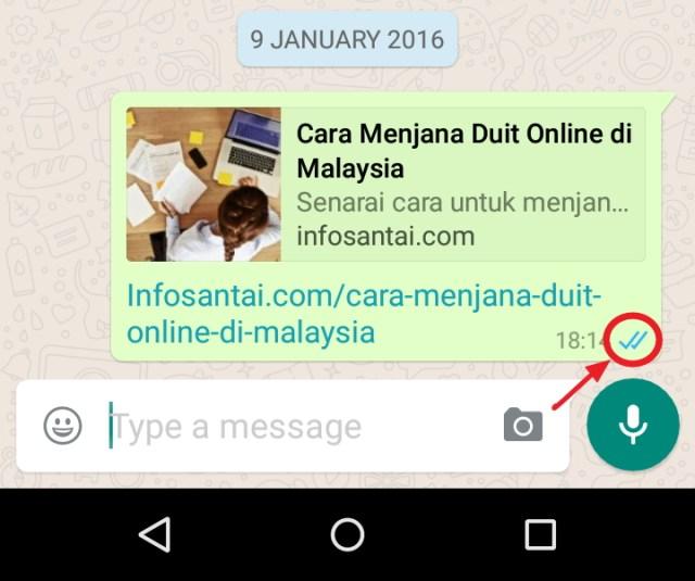 WhatsApp Tik biru tanda dibaca
