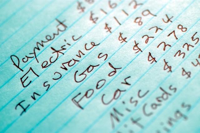 buat budget untuk perbelanjaan bulanan
