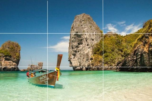garisan mendatar berada dikawasan garis grid panduan fotografi