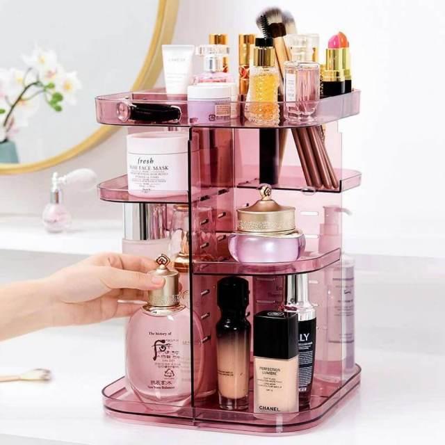 hadiah untuk wanita rak kosmetik