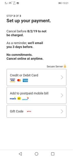 pilih payment method netflix