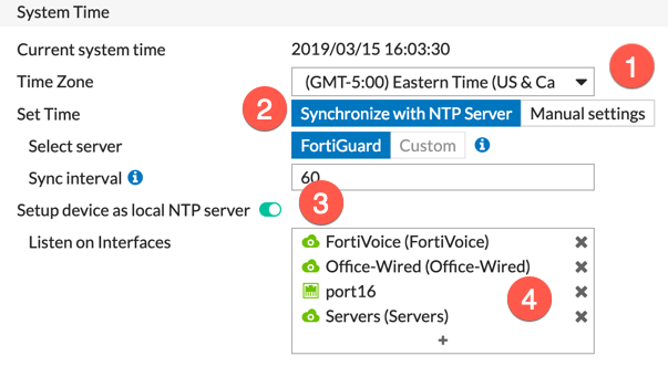 Configuring Custom NTP Server on Fortigate - InfoSecMonkey