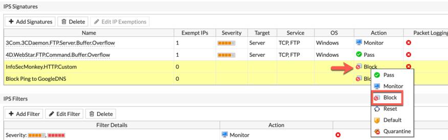 Writting Custom IPS Signatures on Fortigate - InfoSecMonkey