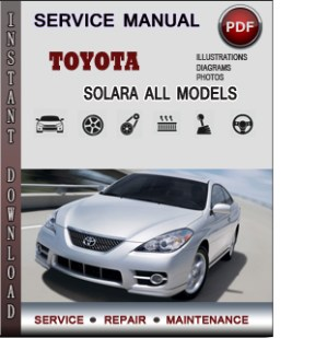 2006 Toyota camry solara owners manual pdf