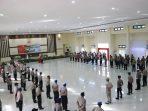 Pimpin Upacara Korps Raport Kenaikan Pangkat, Kapolda Tetap Terapkan Protokol Kesehatan