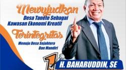 H Baharuddin Kembali Mendapat Amanat Pimpin Desa Tanete