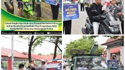 Tertib Berlalu Lintas dan Patuhi Prokes, Pengendara Diberikan Paket Sembako